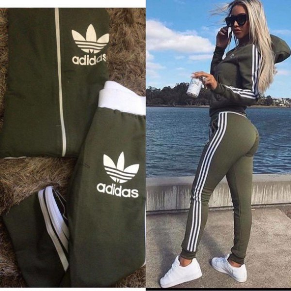 hoodie with light grey and white adidas running leggings