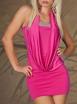 hot pink two layered bodycon mini dress