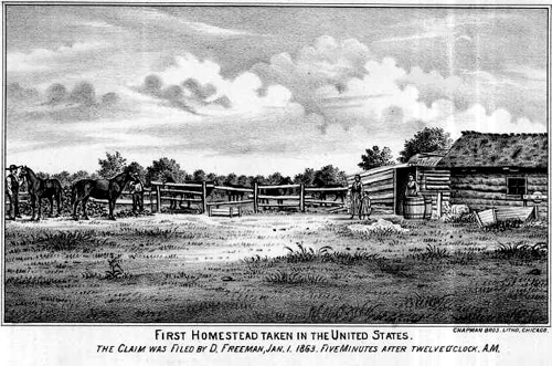First Homestead in USA