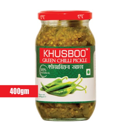 Khusboo Premium Green chily pickle 400gm