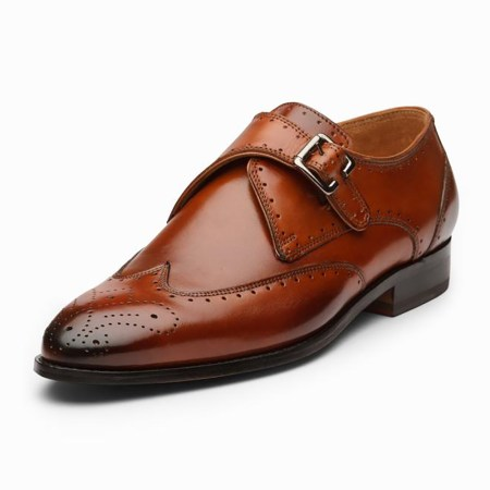 Single Monk Leather Shoes