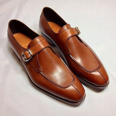 Single Monk Leather Shoes 03