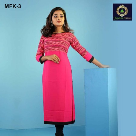 Linen Stitched Kurti for Women's (MFK-3)