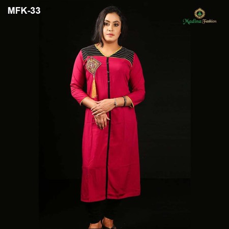 Linen Stitched Kurti for Women's (MFK-33)