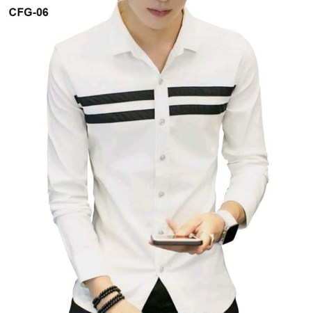 White Casual Shirt For Men CFG-06