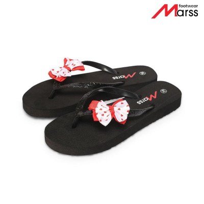 Black Butterfly Flip-Flop Pairs For Women (MS 06)