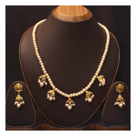 Goldplated Pearl Set (CH39)