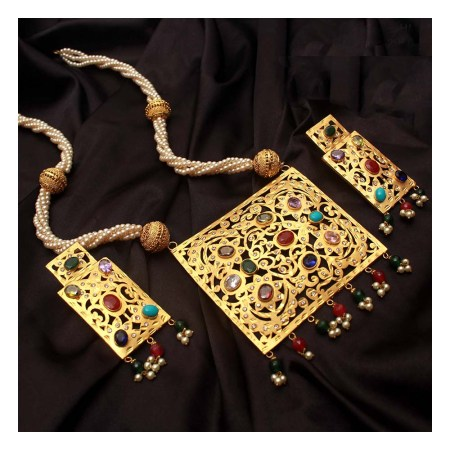 Gold Plated Katai Necklace (HM44)