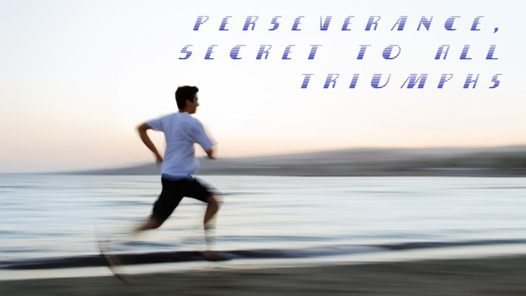 Perseverance, Secret of All Triumphs