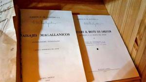 Libros de exploraciones patagónicas firmados por el autor Enrique Villegas
