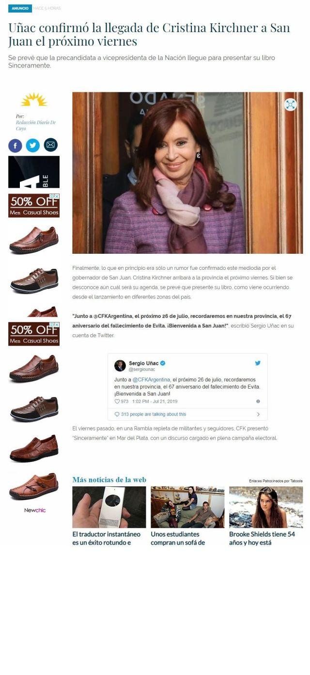 Censura de Diario De Cuyo por Cristína Fernández De Kirchner