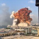 Se registra una fuerte explosión en Beirut, Libano
