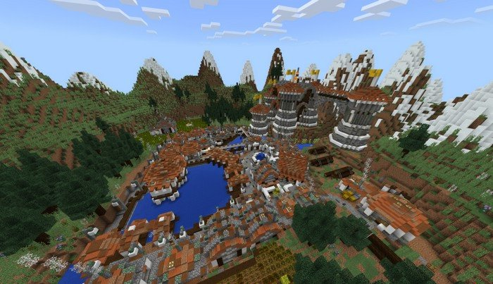 Medieval Village Map For Minecraft PE 112