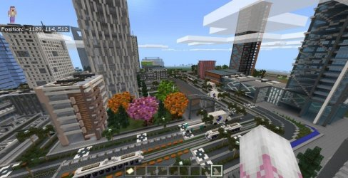 minecraft modern map pe maps fmcpe mcworld file install open into