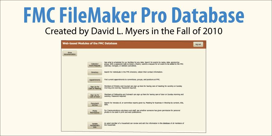 FileMaker Pro DB