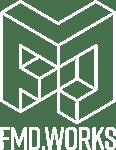 FMD.WORKS logo wit