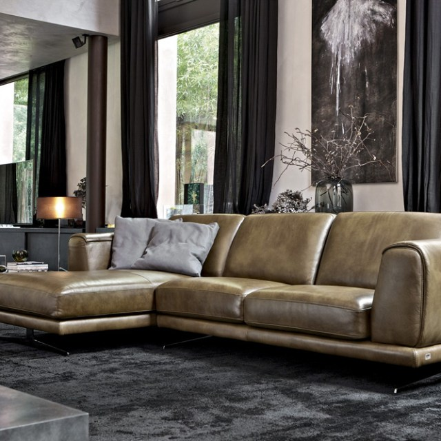 Denver leather sofa doimo salotti