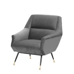 Exile chair grey Eichholtz