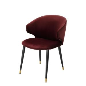 Volante dining chair with arm bordeaux Eichholtz