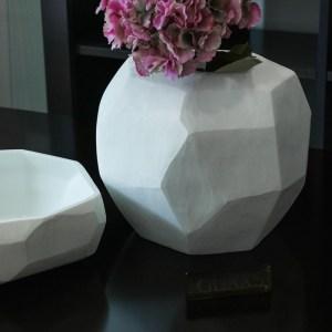 guaxs cubitic opal white vases