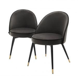COOPER SET OF 2 DARK GREY Dining chair EICHHOLTZ