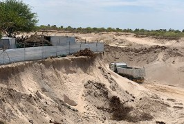 Northern Namibia business owners decry the closing off of sand pits by the government
