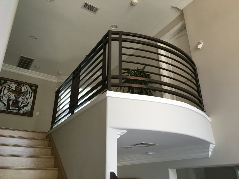 Fusion Metalworks – Wrought Iron – Interior Stair Railings | Wrought Iron Indoor Railing | Steel Frame Wood Deck | Metal | Glass Indoor | Victorian | Traditional