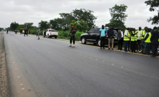 Image result for Lai Mohammed inspects Ilorin-Jebba road