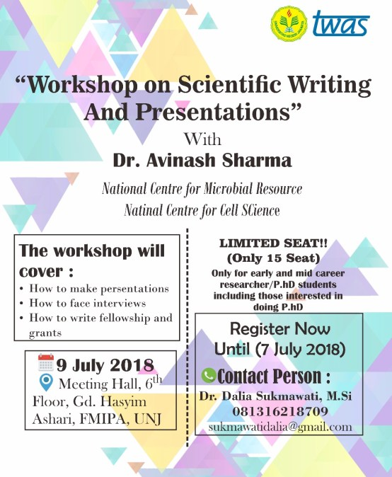 Workshop on Scientific Writing and Presentations