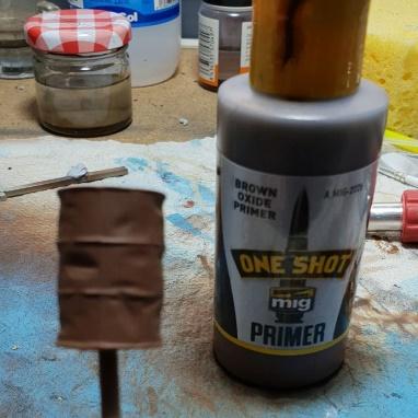 al que imprimamos con el One Shot Primer color óxido