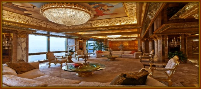 Trump S Most Famous Home Is His Three Story High Atop The Tower In New York City Sam Horine
