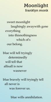 Sweet Moonlight, a poem by Franklyn Monk