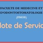 Note de service/FMOS: Les soutenances (thèses, mémoires) sont suspendues du 14 septembre au 1er Octobre 2021