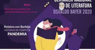 Con eje en la pandemia, convocan al segundo certamen literario Osvaldo Bayer