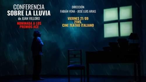 Audio. Una conferencia que bajo la lluvia entrelaza el teatro y la literatura.