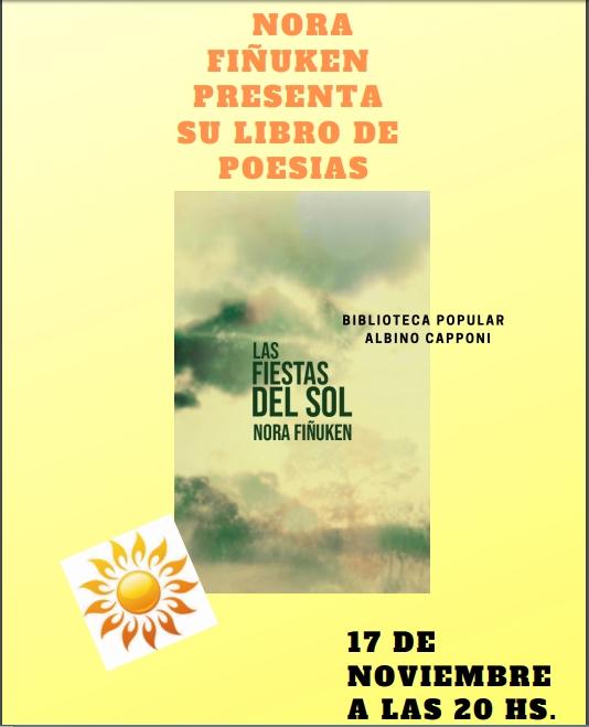 """Presentación del libro """"Las fiestas del sol"""" de Nora Fiñuken."""