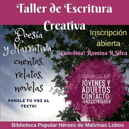 TALLER DE ESCRITURA CREATIVA EN LA BIBLIOTECA POPULAR HÉROES DE MALVINAS