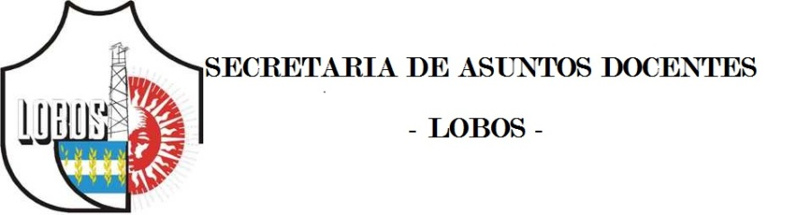 Informa Sad Lobos. ISFDYT 43 RESOL. 5886/06