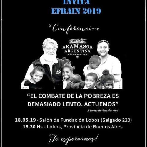 Audio. Conferencia de Akamasoa Argentina en Lobos.