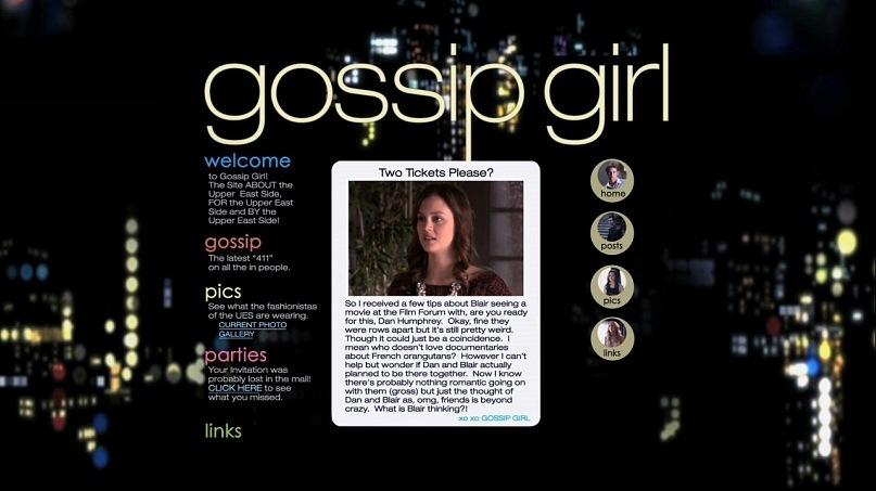 Gossip Girl Transmedia Extension  Course Blog For Asu's
