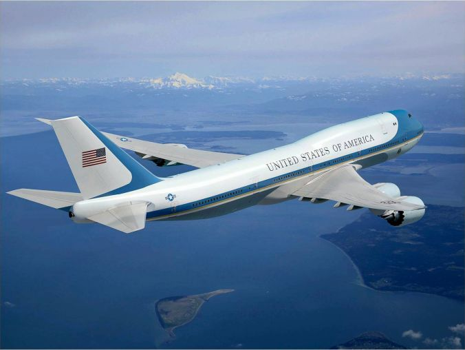 air-force-one-in-flight