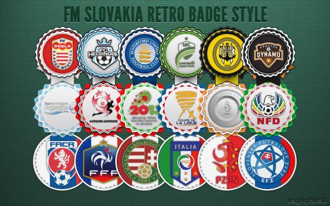 Retro badges preview