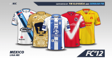 Mexico Liga MX 2016/17 kits