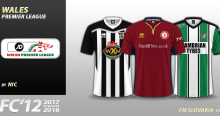 FC'12 Wales – JD Welsh Premier League 2017/18 kits