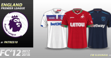 FC'12 England – Premier League 2017/18 kits (1.02)
