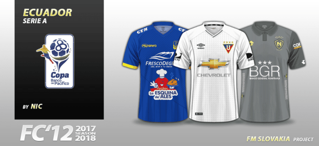 Football Manager 2018 Kits - FC'12 Ecuador Copa Banco del Pacifico 2017
