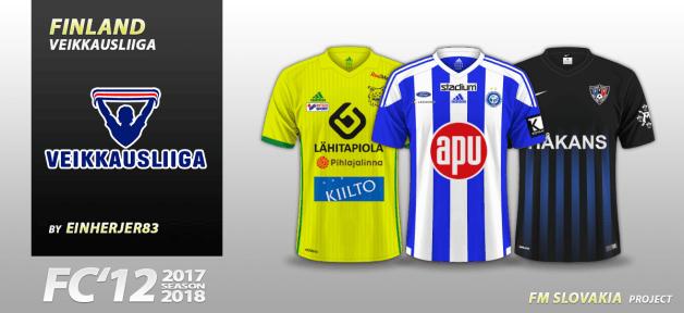 Football Manager 2018 Kits - FC'12 Finland Veikkausliiga 2017
