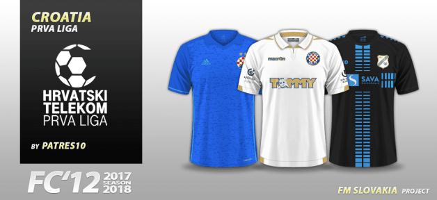 Football Manager 2018 Kits - FC'12 Croatia Prva Liga 2017/18 kits