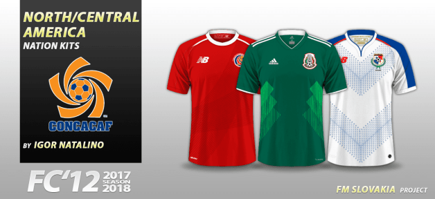 Football Manager 2018 Kits - FC'12 Nations – Central & North America [World Cup edition]