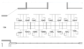 Room numbering cubicles(spaces) within a larger room